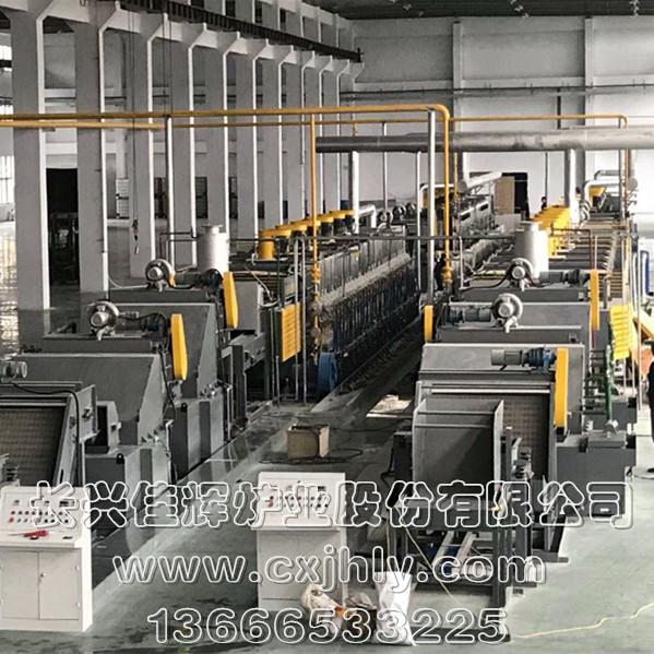 燃气式无马弗网带炉热处理生产线