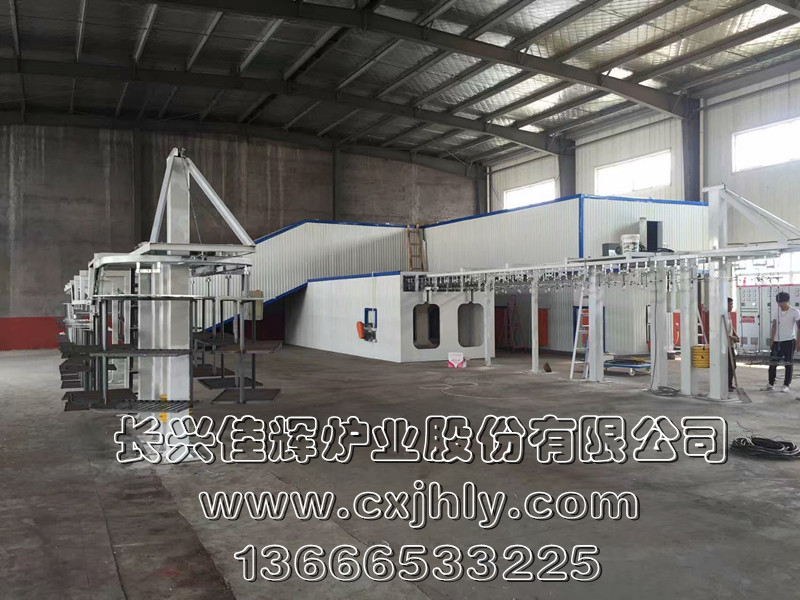 搪瓷日用品烘干炉生产线